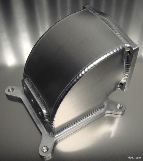 6061 Sheet Metal Throttle Body Elbow Intake Manifold